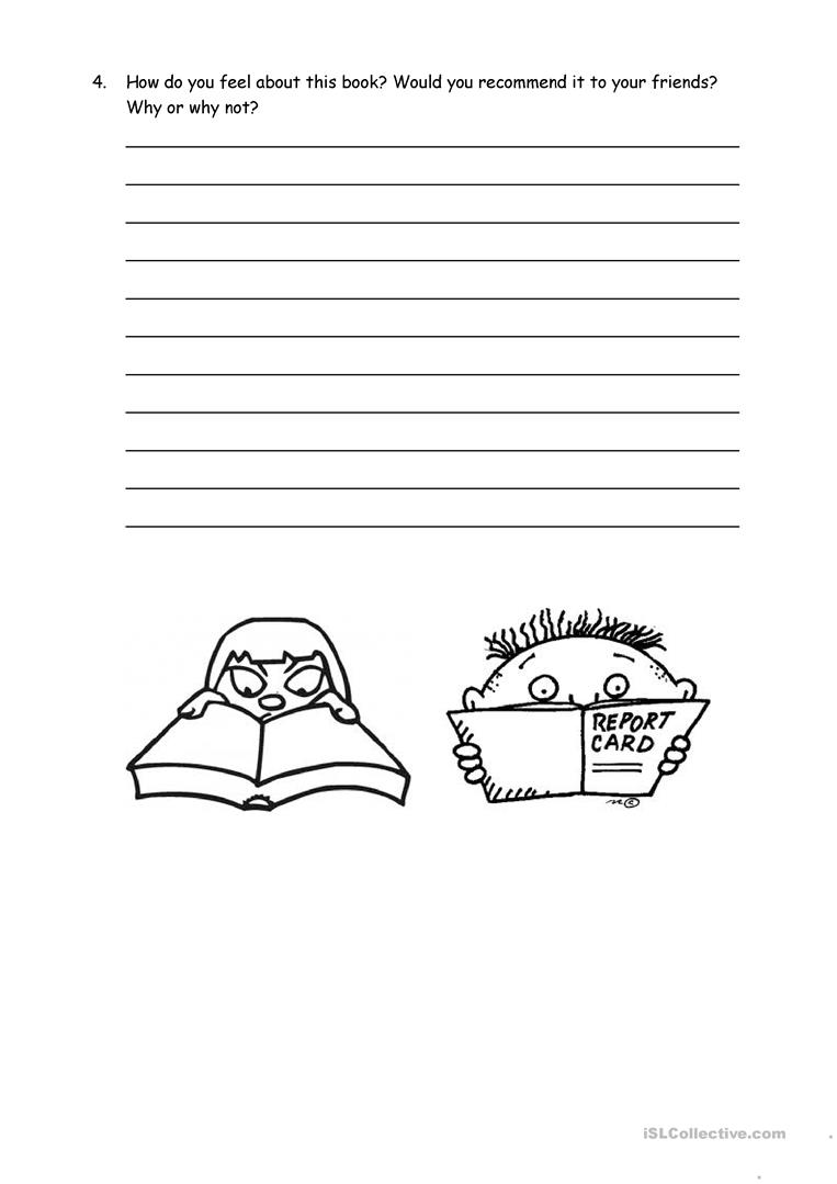 Book Report Form For Non Fiction Worksheet Free Esl Printable