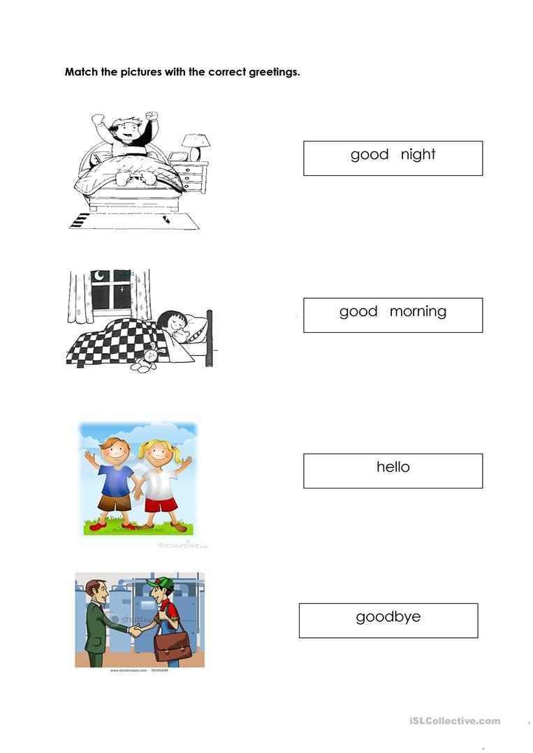 163 Free Esl Greetings Worksheets