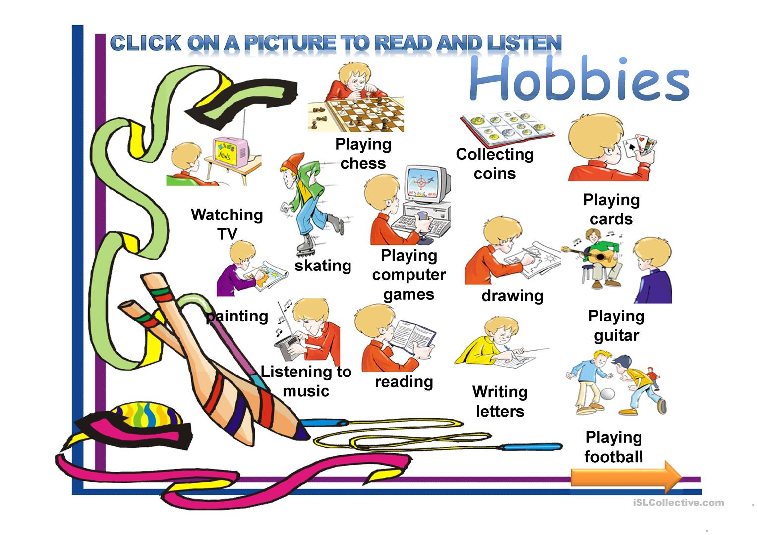 Hobbies - English ESL Powerpoints for distance learning and ...