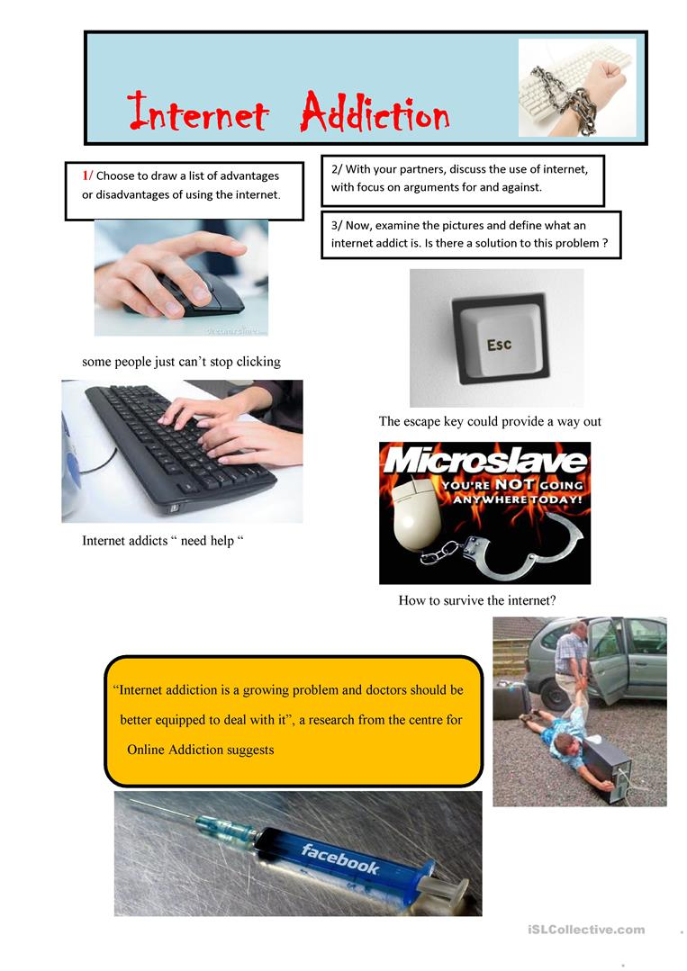 behind the internet addiction essay This internet addiction essay describes three common types of this psychological obsession: social network addiction, pornography and cybersex, and gaming addiction if you need to get qualified help, you should know that our writing service essayshark is able to provide you with an internet addiction essay or any other kind of academic paper.