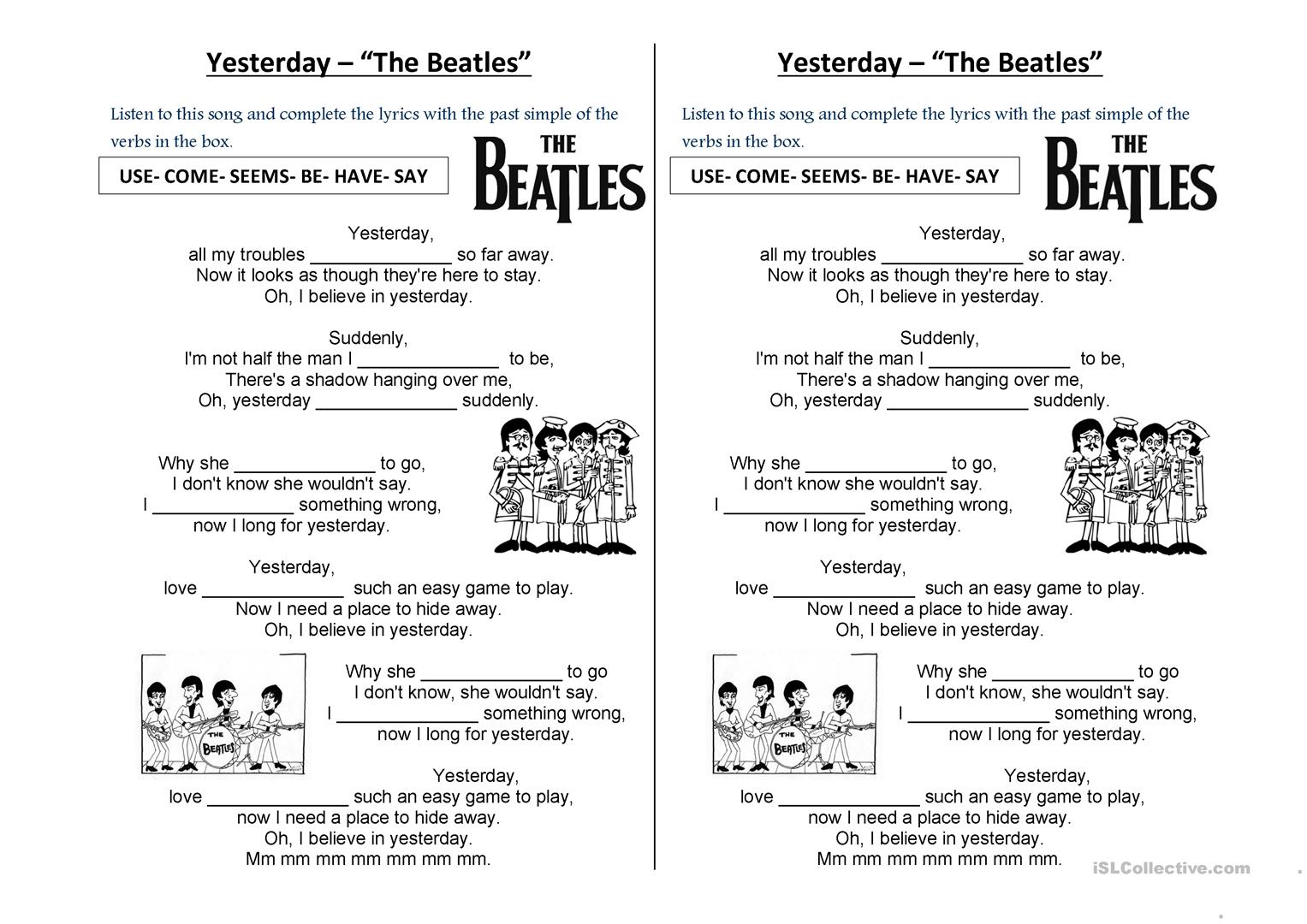 download song yesterday by beatles