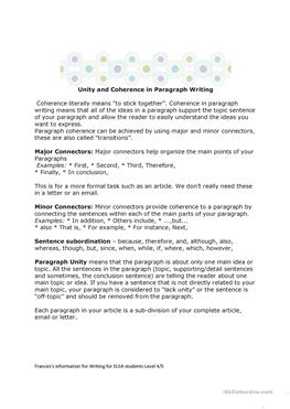 Esl for adults process paragraph structure example by esl for adults.