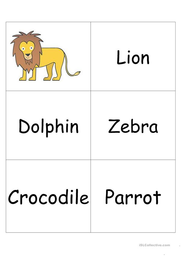 Animals- Memory and Category game