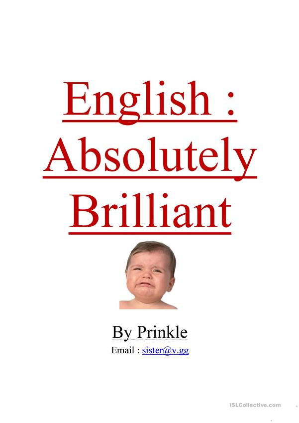 English : Absolutely Brilliant