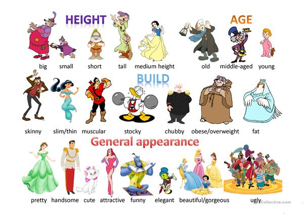 Physical description - Disney characters pictionary 1