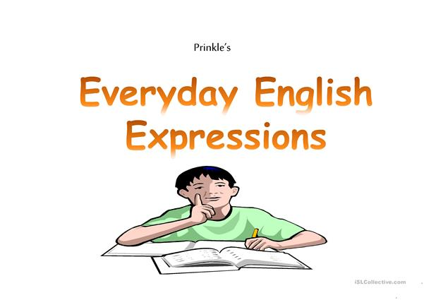 Prinkle's everyday useful English Expressions