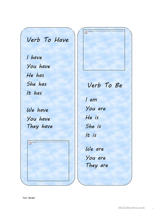 Verbs be & have **bookmark**