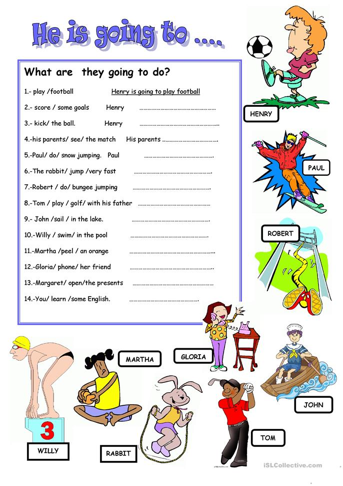 BE GOING TO worksheet - Free ESL printable worksheets made by teachers
