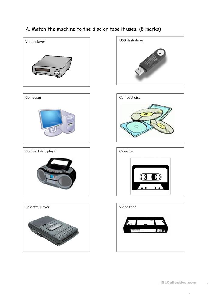 communication devices worksheet