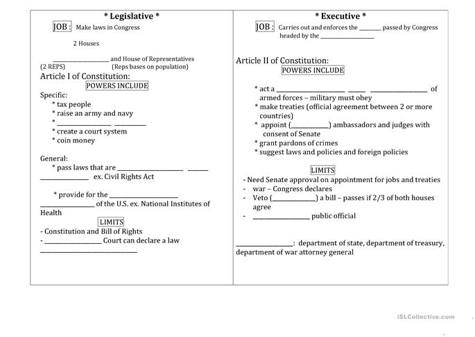 3 FREE ESL constitution worksheets – Constitution Worksheets
