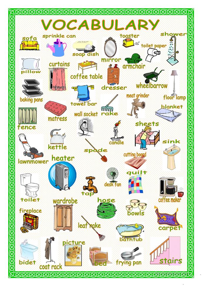 House Vocabulary English Words Pictures to Pin on ...
