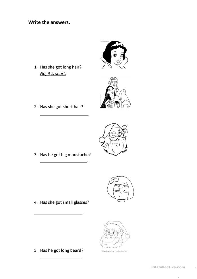 have got/has got  - ESL worksheets