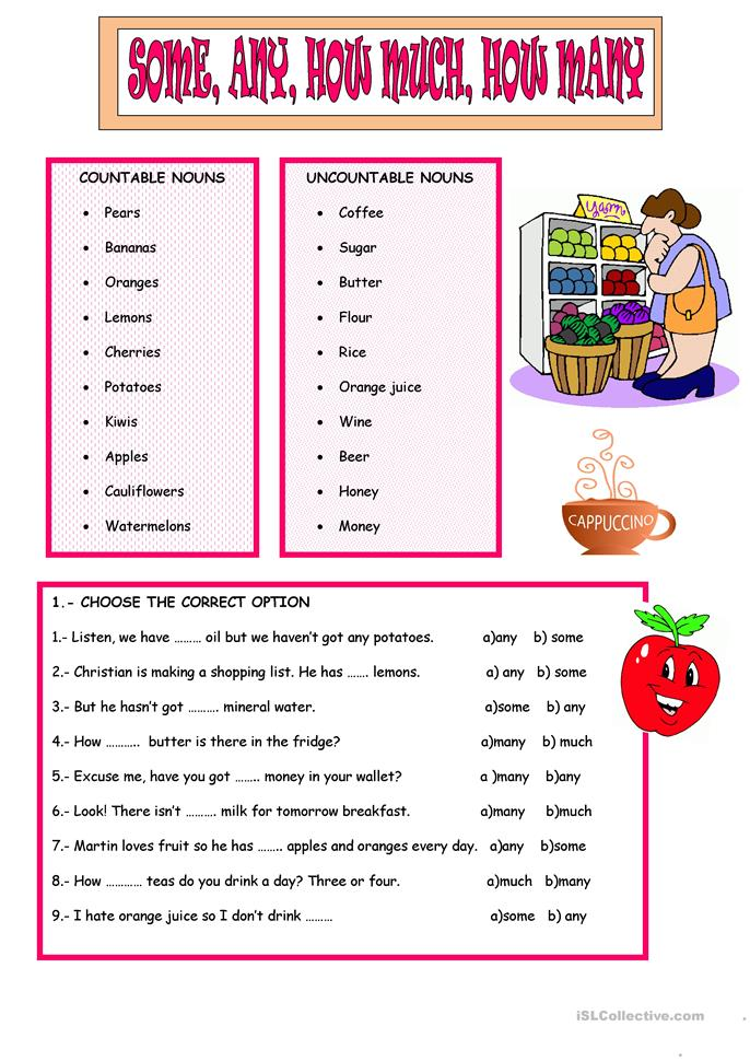 ... MUCH, MANY worksheet - Free ESL printable worksheets made by teachers