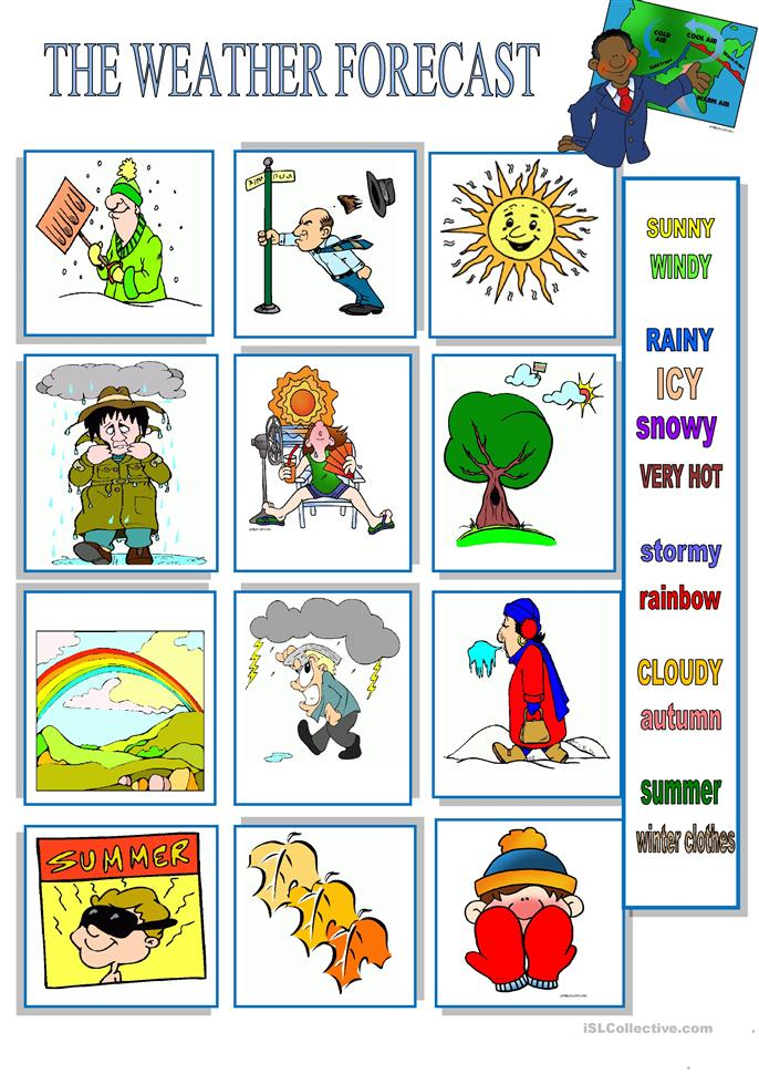 WEATHER FORECAST worksheet - Free ESL printable worksheets made by ...