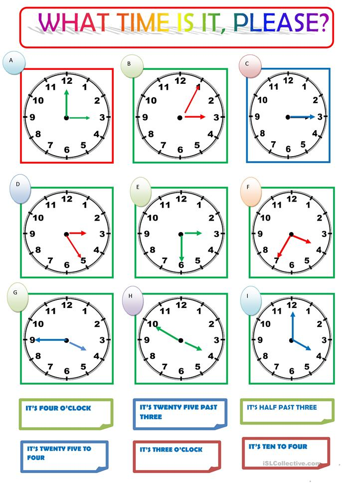what time is it please worksheet free esl printable worksheets made by teachers. Black Bedroom Furniture Sets. Home Design Ideas