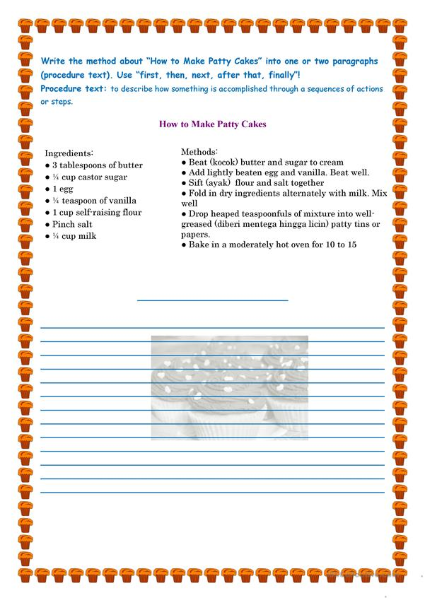 Procedure Text Worksheet Free Esl Printable Worksheets