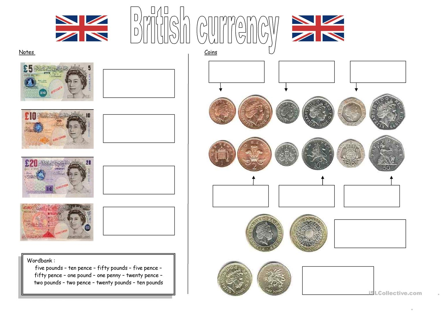 british currency worksheet free esl printable worksheets made by teachers. Black Bedroom Furniture Sets. Home Design Ideas