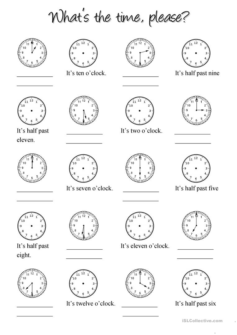 CLOCK   English ESL Worksheets for distance learning and physical ...