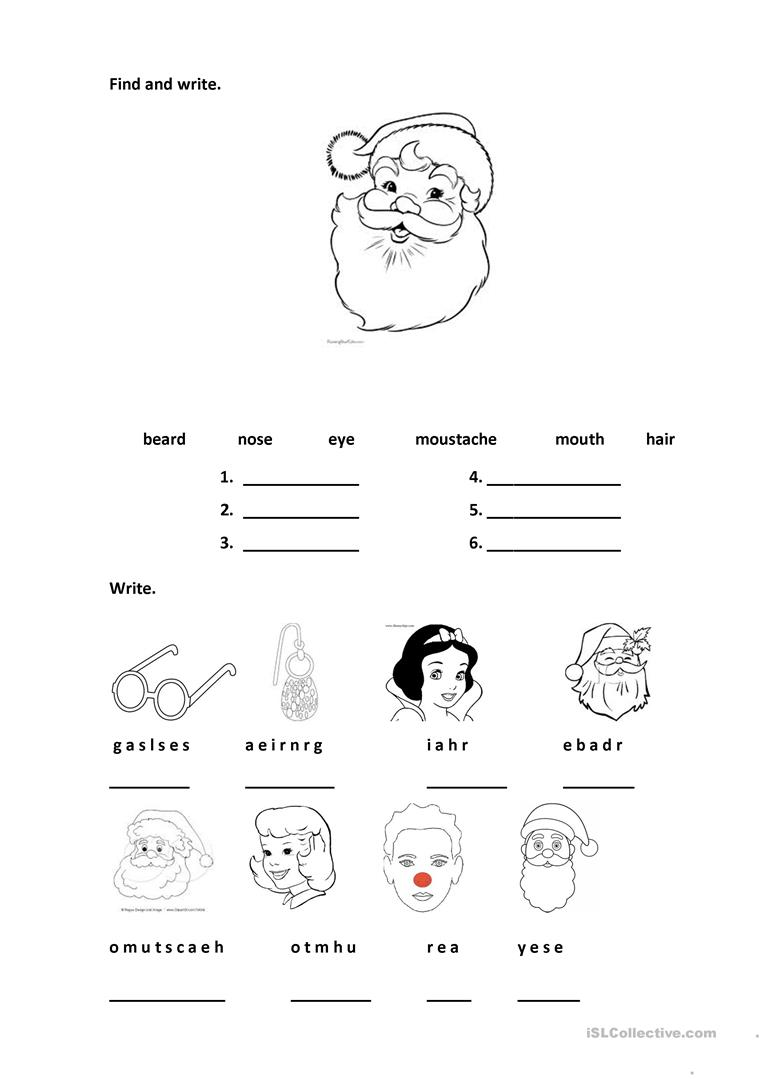 It is a picture of Wild Printable Face Parts