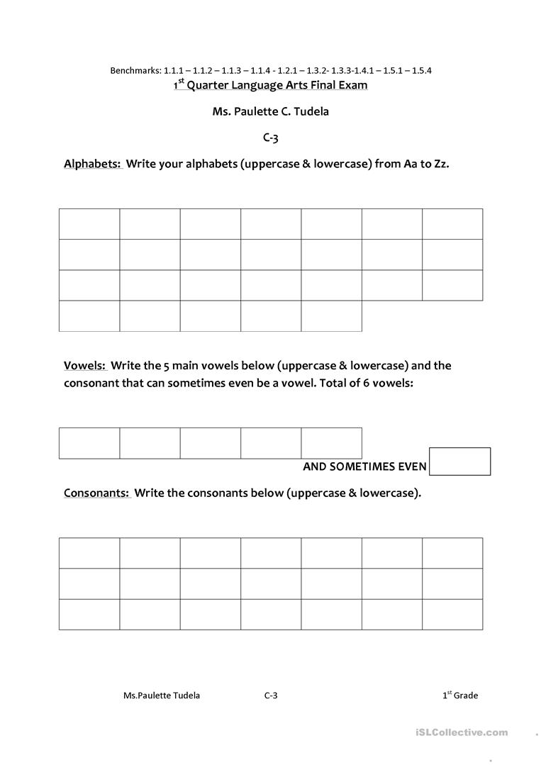 - Language Arts - English ESL Worksheets For Distance Learning And