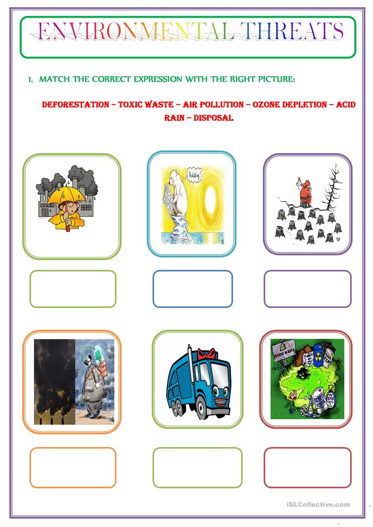 pollution worksheet kindergarten pollution best free printable worksheets. Black Bedroom Furniture Sets. Home Design Ideas
