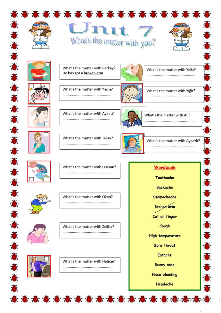33 Free Esl Illnesses Worksheets