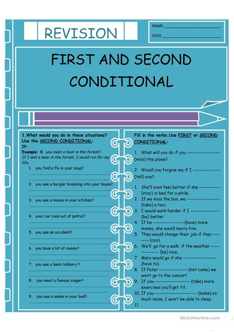 First and Second Conditional worksheet - Free ESL printable ...