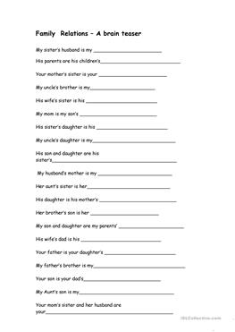 relations worksheets
