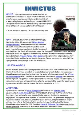 nelson mandela vocabulary comprehension essay Essay on nelson mandela biography mean you will practice new vocabulary and finished reading comprehension about nelson mandela fast facts who.