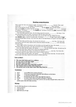 English ESL reading comprehension exercises, Intermediate