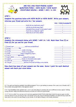 picture relating to Personality Quiz Printable referred to as English ESL how considerably worksheets - Optimum downloaded (93