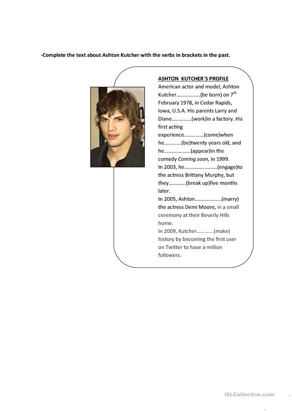 Ashton Kutcher´s biography