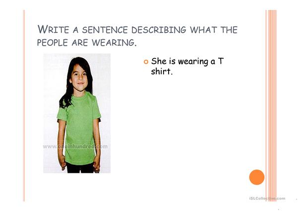 Describing Clothes