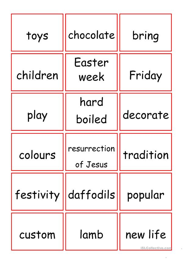 Easter board game (72 cards included)
