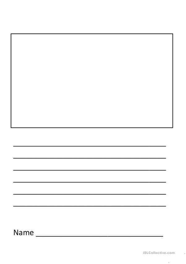 Elementary Writing Template