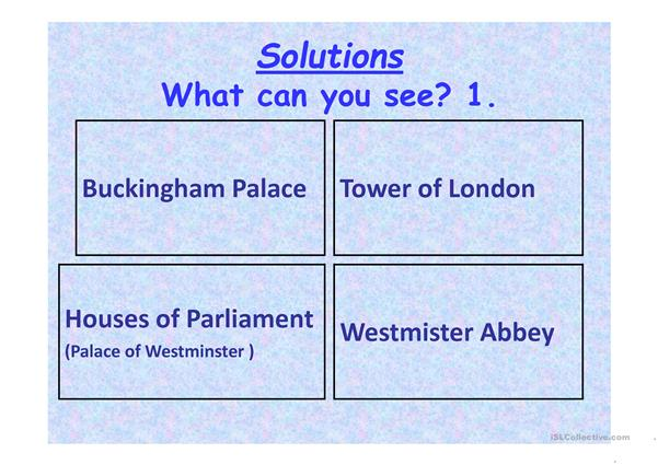 Famous Buildings in London