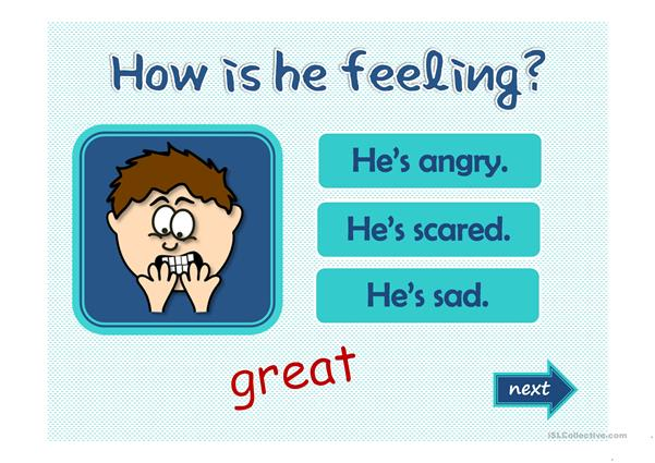 Feelings and emotions - GAME