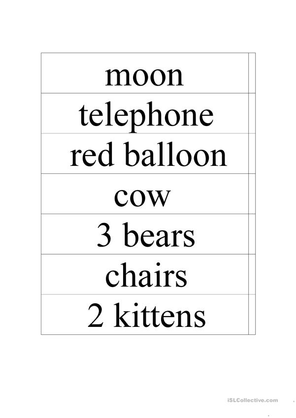Godnight Moon Vocabulary