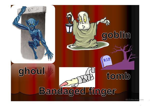 Halloween Vocabulary and Bingo