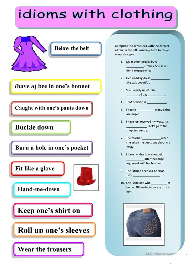IDIOMS - CLOTHING