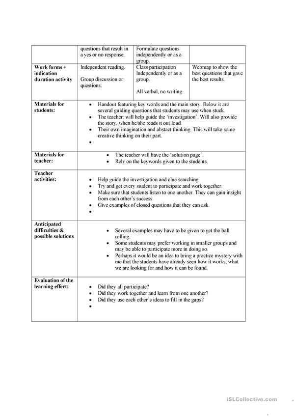 iNFORMATION GAP LESSON PLAN