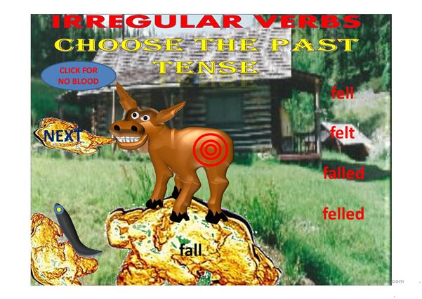 irregular verbs pin the tail on the donkey part 2