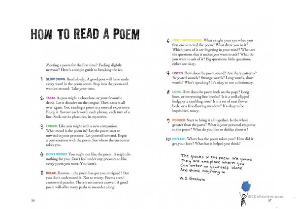 Poster How to Read Poetry