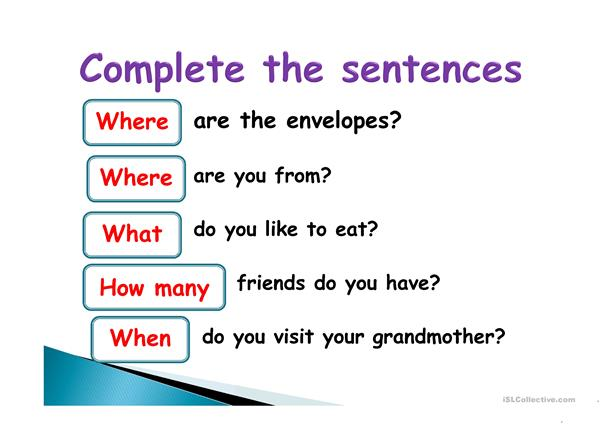 PPT, special questions