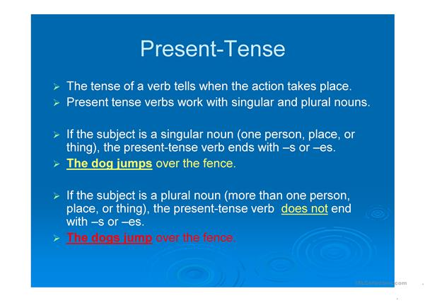 Present Tense Verb Agreement