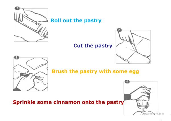 Recipe-vocabulary and retelling