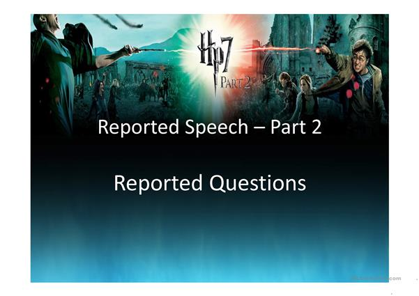 Reported Questions - presentation