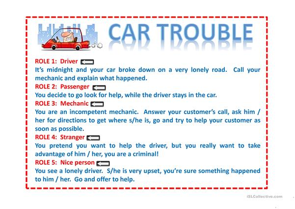 ROLE PLAY: CAR TROUBLE