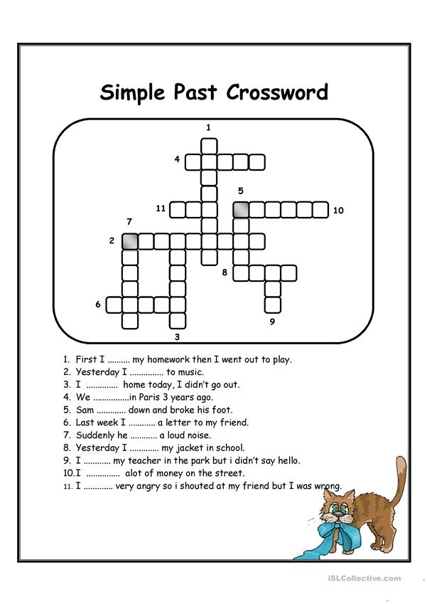 Simple past crossword