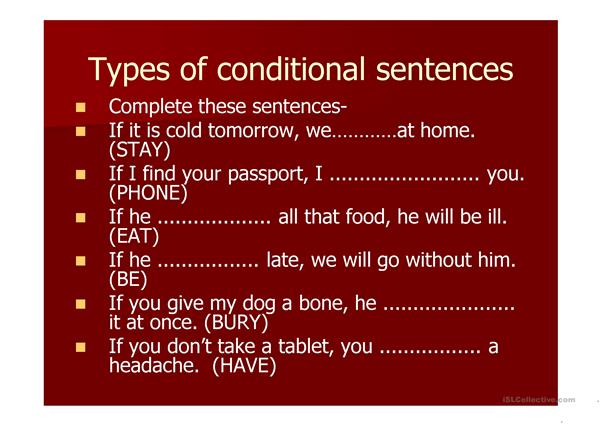 the 1st conditional